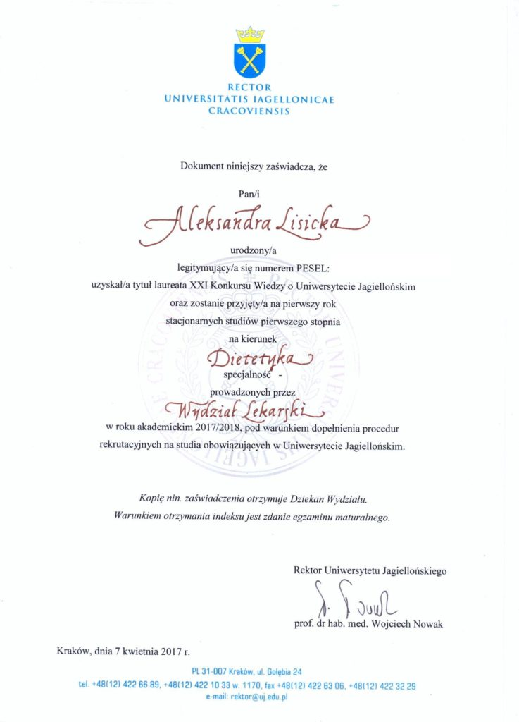 laureatka-konkurs-uniwersytet-jagiellonski-2017